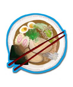Tonkotsu Pork Ramen – Die Cut Vinyl Sticker
