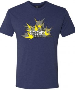 Exploding Destroy the Comics Logo – UltraSoft Triblend T-Shirt