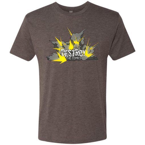 Exploding Destroy the Comics Logo – UltraSoft Triblend T-Shirt