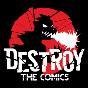 destroy the comics square logo