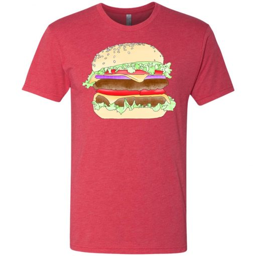 Almighty Double Cheeseburger- UltraSoft Triblend T-Shirt