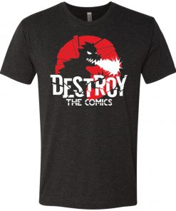 Destroy the Comics Emblem Dark Color – UltraSoft Triblend T-Shirt