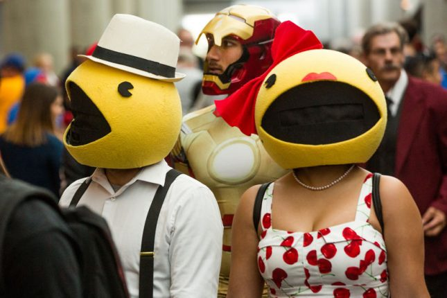 pacman and pacwoman at silicon valley comic con