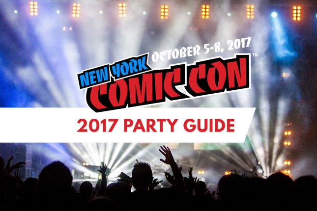 nycc party guide with nycc logo over a scene of people partying
