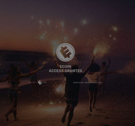 ecoin logo superimposed over stock image, darkened for readability