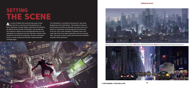 a page from the spider-verse art book
