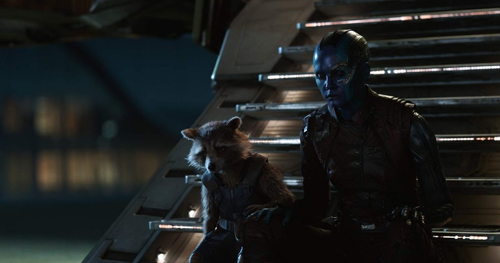 nebula and rocket sit together