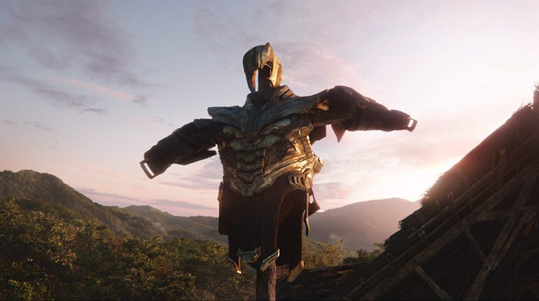 thanos' armor on a scarecrow